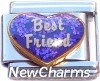 CT9716 Best Friend on Heart Italian Charm