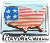 CT9746 USA Flag Italian Charm