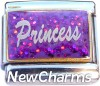 CT9766 Princess on Purple Italian Charm