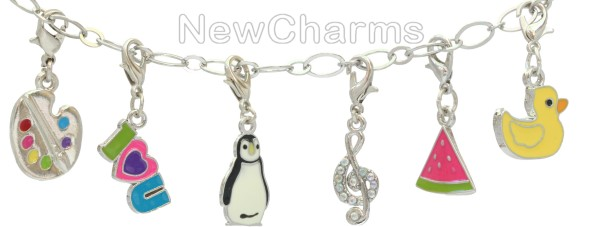 Enamel Dangle Charms for Floating Lockets