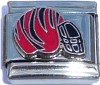 SP9520 Red and Black Striped Helmet Italian Charm