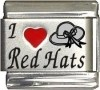 I Love Red Hats Italian Charm