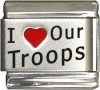 I Love Our Troops Italian Charm