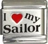 I Love my Sailor Italian Charm