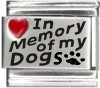 In Memory of my Dogs Italian Charm