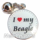 JR107 I Love My Beagle ORing Charm