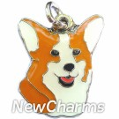 JR200 Corgi Head O-Ring Charm
