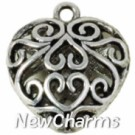JS103 Silver Vintage Heart ORing Charm