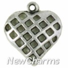 JS106 Silver Checkered Heart ORing Charm