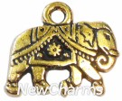 JT106 Gold Elephant ORing Charm