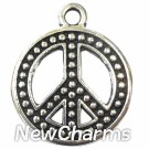 JT111 Silver Peace Sign ORing Charm