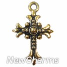 JT114 Gold Vitnage Cross ORing Charm