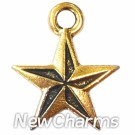 JT123 Gold Nautical Star ORing Charm