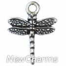 JT130 Silver Dragonfly ORing Charm