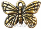 JT135 Gold Butterfly ORing Charm