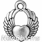 JT159 O-Ring Dangle Silver Winged Heart