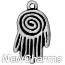 JT165 O-Ring Dangle Silver Spiral Hand