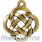 JT180 Gold Open Celtic Knot O-Ring Charm