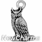JT183 O-Ring Dangle Silver Owl