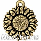 JT194 Gold Sunflower O-Ring Charm
