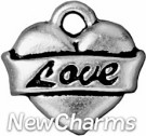 JT201 Silver Love Heart O-Ring Charm