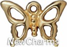 JT204 Gold Open Butterfly O-Ring Charm