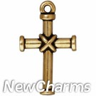 JT206 Gold Wrapped Cross O-Ring Charm