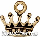 JT214 Gold Crown O-Ring Charm