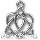 JT225 Silver Celtic Open Heart O-Ring Charm
