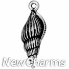 JT241 Silver Shell O-Ring Charm