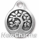 JT243 Silver Tree O-Ring Charm