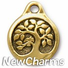 JT244 Gold Tree O-Ring Charm