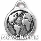 JT245 Silver Earth O-Ring Charm