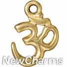 JT253 Gold Ohm O-Ring Charm