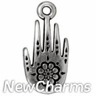 JT273 Silver Henna Hand O-Ring Charm