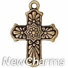 JT276 Gold Deco Cross O-Ring Charm