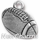 JT310 Silver Football O-Ring Charm