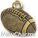 JT311 Gold Football O-Ring Charm