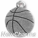 JT312 Silver Basketball O-Ring Charm