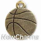 JT313 Gold Basketball O-Ring Charm