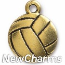 JT317 Gold Volleyball O-Ring Charm