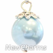 CH202 Big Light Blue Pearl Dangle