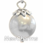 CH207 Big Gray Pearl Dangle