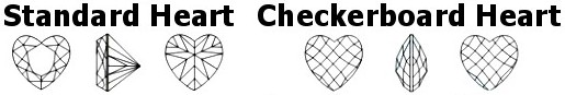 Checkerboard Heart Birthstones