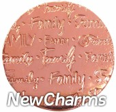 DR902 Rose Gold BIG Handwritten Family Disk