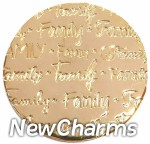 DR904 Gold MEDIUM Handwritten Family Disk