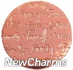 DR905 Rose Gold MEDIUM Handwritten Family Disk