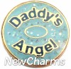 H1151 Daddy's Angel Gold Trim Floating Locket Charm