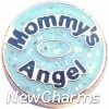 H1152 Mommy's Angel Gold Trim Floating Locket Charm