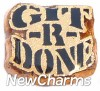 H1224 Git R Done Floating Locket Charm